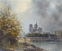 notre dame, paris by alexis vollon