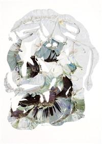 skull, first rorschach by ben quilty