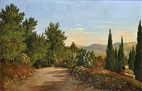la promenade dans les collines au-dessus de nice by françois bensa