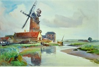a tidal river, cley on sea by william a. macdonald