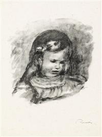 claude renoir, la tête baisée (from l'album des douze lithographies originales) by pierre-auguste renoir