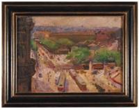 widok na dzielnicę naschmarkt w wiedniu by wilhelm wachtel