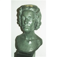 head of woman with curls by eleanor mellon