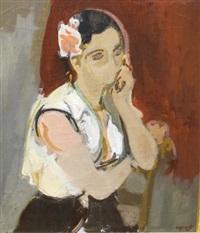 étude préparatoire pour un portrait (preparatory study) by raymond jean legueult