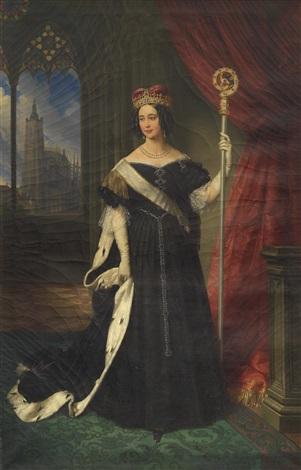 erzherzogin maria theresia königin von neapel sizilien als äbtissin des adeligen damenstiftes am prager hradschin by johann nepomuk ender