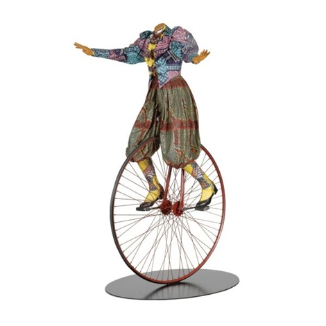 lady on unicycle by yinka shonibare mbe
