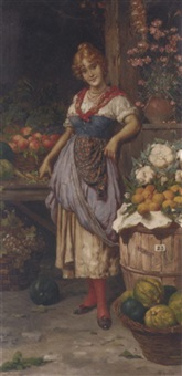 the venetian vegetable seller by f. avilo