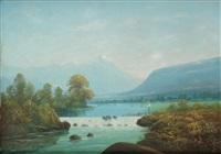 pêche en montagne by léon adolphe auguste belly