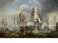 the battle of trafalgar 1805 by robert trenaman back
