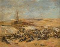 louis campement à la campagne by eugène boudin