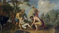 joseph jeté au puits par ses frères by claes cornelisz moeyaert