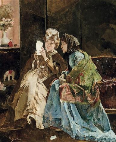 la bonne lettre by alfred stevens