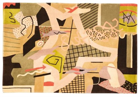 flying carpet by stuart davis