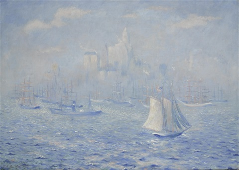 new york harbor by theodore earl butler