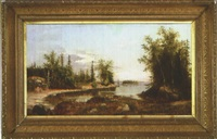approaching a cove in casco bay by charles frederick kimball