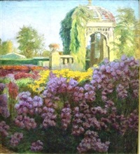 a garden in bloom by franz wilhelm voigt