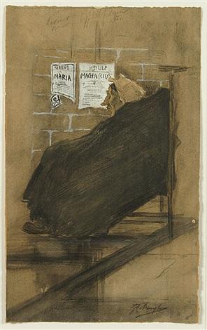 zittende vrouw in de kerk by jules de bruycker