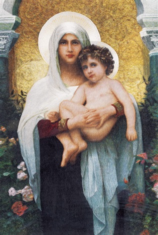 the virgin mother and son guided by guan peiying by william adolphe bouguereau