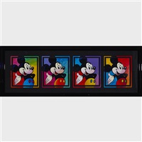 mickey mouse (4 works) by peter max