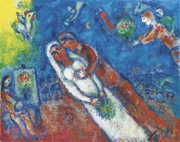 LA FÊTE AUTOUR DE LA MARIÉE by Marc Chagall on artnet
