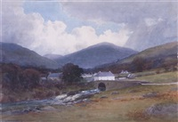 annamoe village, co. wicklow by george drummond fish