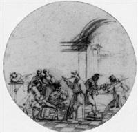 a tavern scene by mauro antonio (maurino) tesi