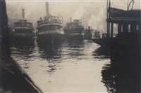 ferries, old milson point road by harold p. cazneaux