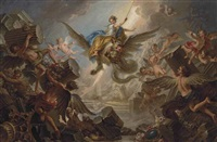 the destrucion of the palace of armida by charles-antoine coypel