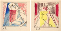 profond aujourd'hui (bk by blais cendrars w/3 works) by angel zárraga