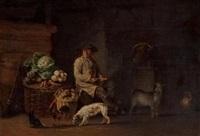 paysan dans une étable by edmund bristow
