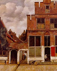 a street scene, delft by willem stad