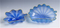 azure seafoam pair by dale chihuly