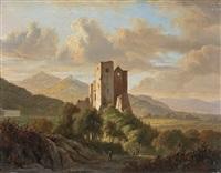 landschaft mit burgruine by jacobus theodorus abels