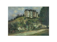 chateau et verdure by maurice utrillo