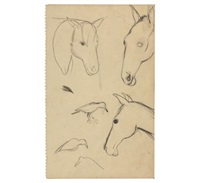 study of horses by amrita sher-gil