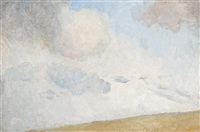 cloud study - evening glow by tom roberts