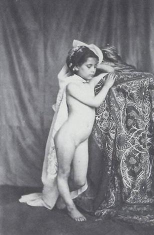 étude de petite fille nue by eugène jean louis marie durieu