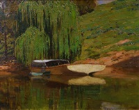 willows on the hawkesbury river by perceval charles (percy) lindsay
