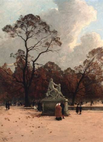 les tuileries en automne by henri linguet