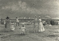 leisure time at the beach by philip a. corley