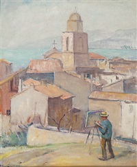 the painter working in st.-tropez (self-portrait) by moricz goth