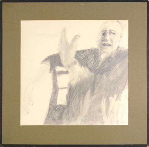 study for portrait of stuart mott by alice neel