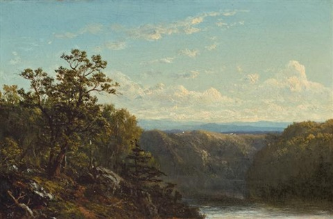a view near the hudson by david johnson
