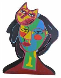 femme au chat by corneille
