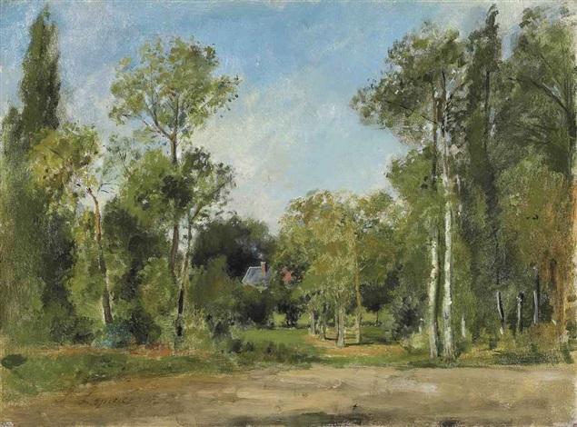 paysage boisé by stanislas lépine