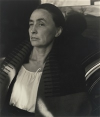georgia o'keeffe (by car) by alfred stieglitz
