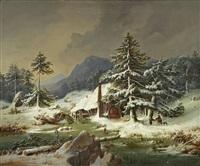 alte glashütte im bayerischen wald by hermann anschutz