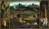entdeckung der neuen welt - verlust der unschuld (triptych) by herbert reyl-hanisch
