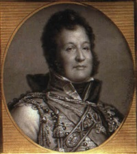 louis-philippe, later the king of the french (1773-1850)  with curling hair and side-whiskers... by louise girard