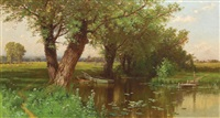 summer pond, southhampton by alfred thompson bricher
